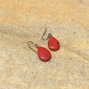 Jewelry - Sterling silver genuine stone earrings